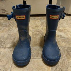 Kids Hunter Rain Boots, Blue Size 9